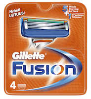 Gillette Fusion Rakblad 24-pack