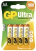 Batteri GP Ultra LR6/AA 4/fp